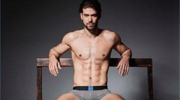 Model Daniel Vargas stars in Azzaro's underwear campaign.