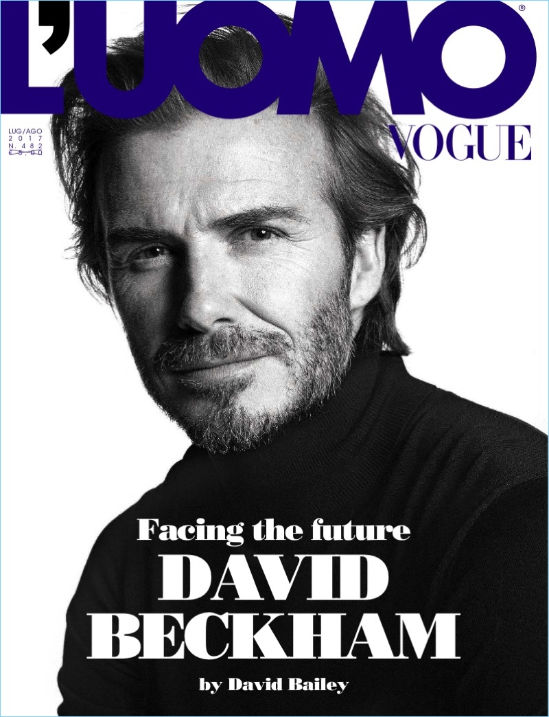 David Beckham covers the July/August 2017 issue of L'Uomo Vogue.