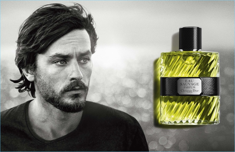 Dior Eau Sauvage uses a vintage image of Alain Delon for its advertising campaign.