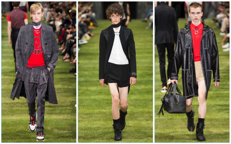 Dior Homme presents its spring-summer 2018 collection during Paris Fashion Week.