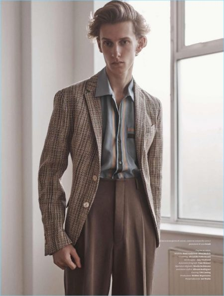 The Art of Summer: Emil Andersen in Fendi for L'Officiel Hommes Italia