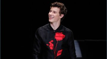 Singer Shawn Mendes takes to the catwalk for Emporio Armani's spring-summer 2018 men's show.
