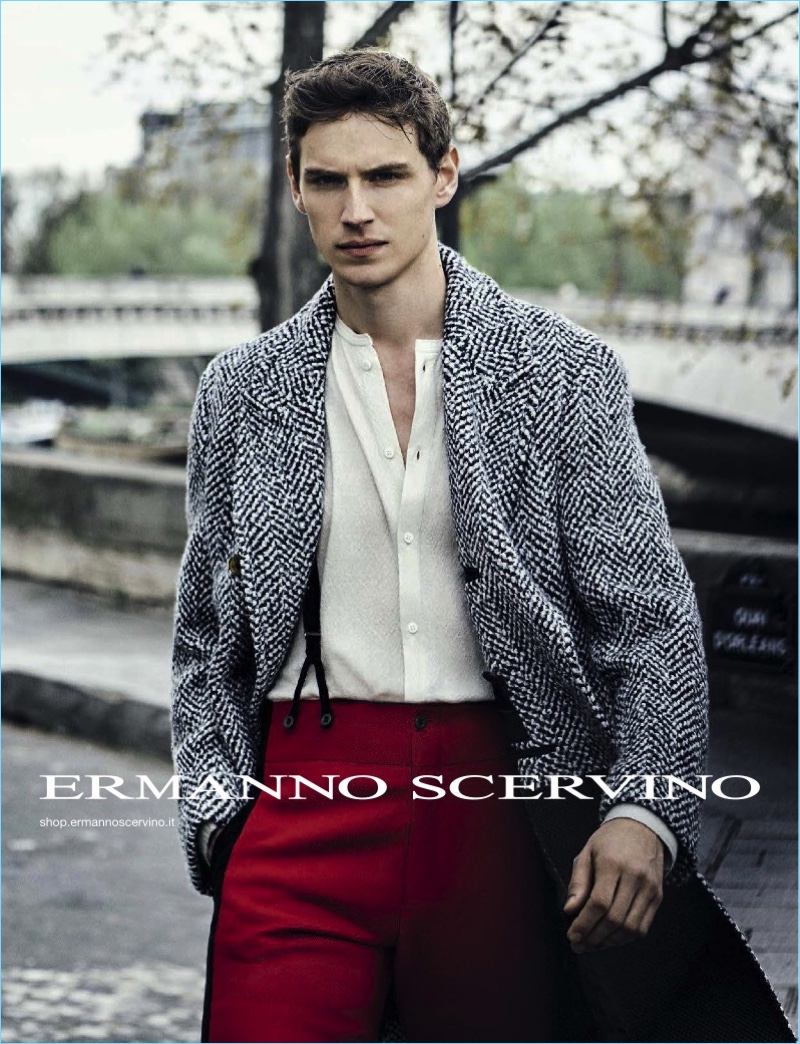 Peter Lindbergh photographs Victor Norlander as the star of Ermanno Scervino's fall-winter 2017 campaign.