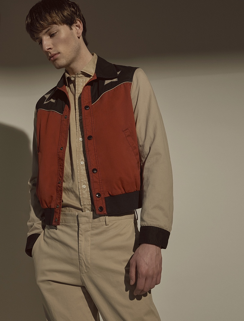 Thomas wears shirt Just Cavalli, jacket and trousers POLO Ralph Lauren.