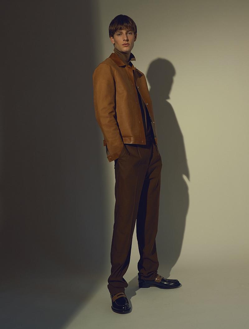 Thomas wears all clothes Ermenegildo Zegna Couture.