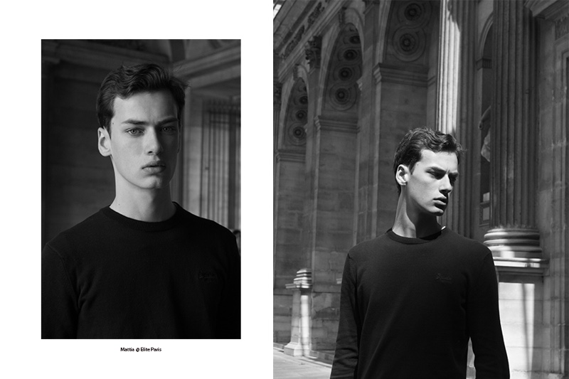 Kevin Pineda photographs Elite Paris model Mattias Creanza