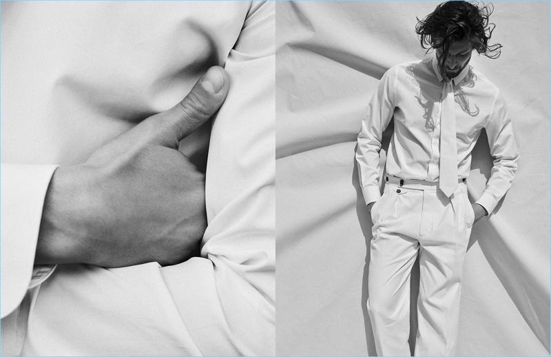 Wouter Peelen stars in Giorgio Armani's fall-winter 2017 campaign.