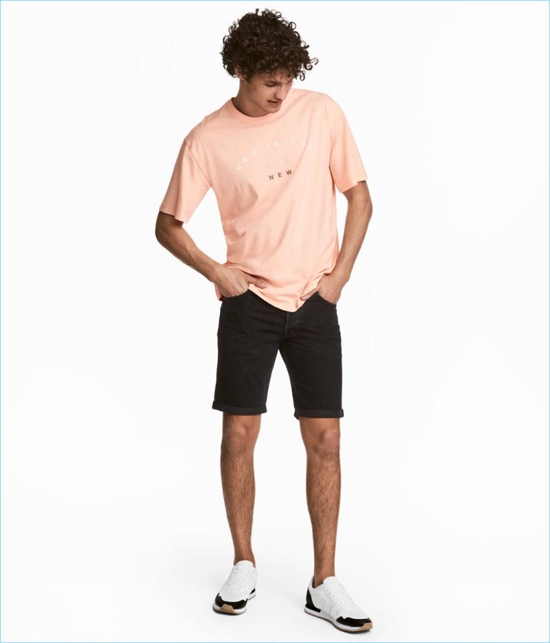 Hu0026M Menu0026#39;s Denim Shorts
