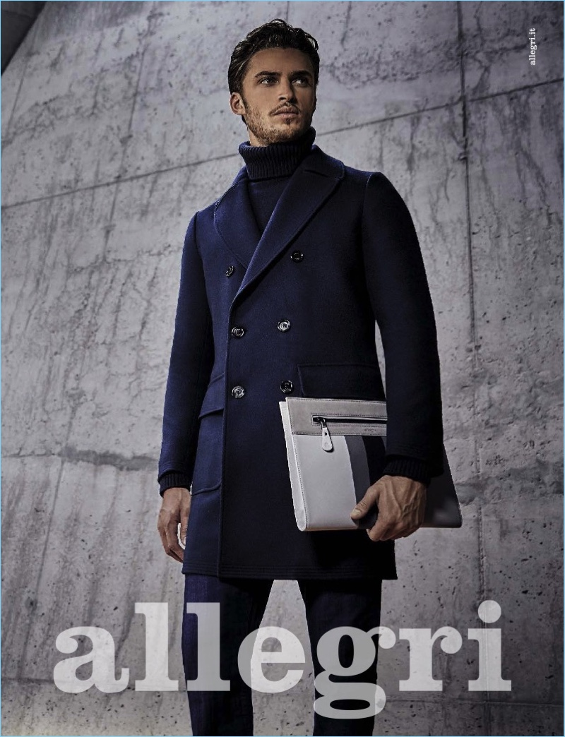 British model Harvey Haydon stars in Allegri's fall-winter 2017 campaign.