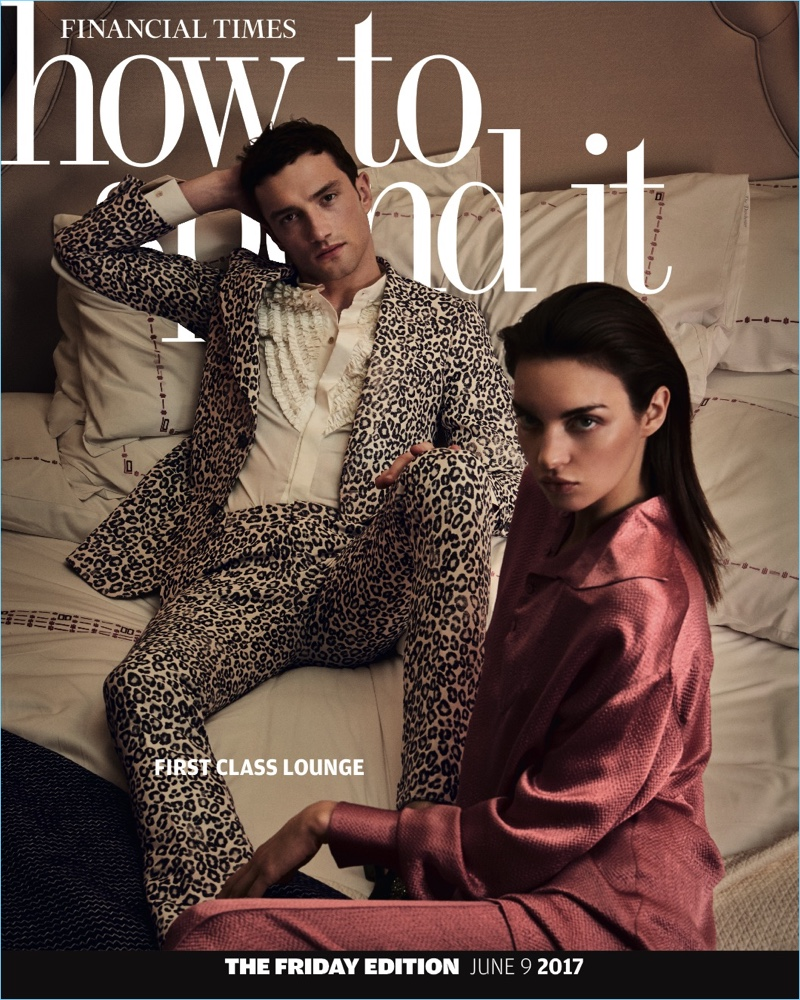 Models Jacob Coupe and Magda Laguinge cover the latest issue of How to Spend It.