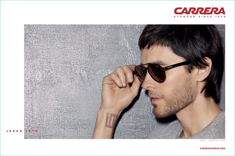 Singer Jared Leto stars in Carrera's 2017 eyewear campaign.