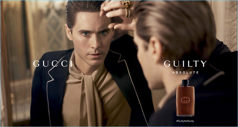 Thirty Seconds to Mars frontman Jared Leto stars in Gucci Guilty's fragrance campaign.