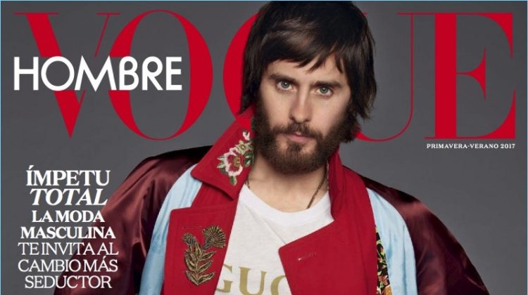 Jared Leto Covers Vogue Hombre, Rocks Gucci Fashions