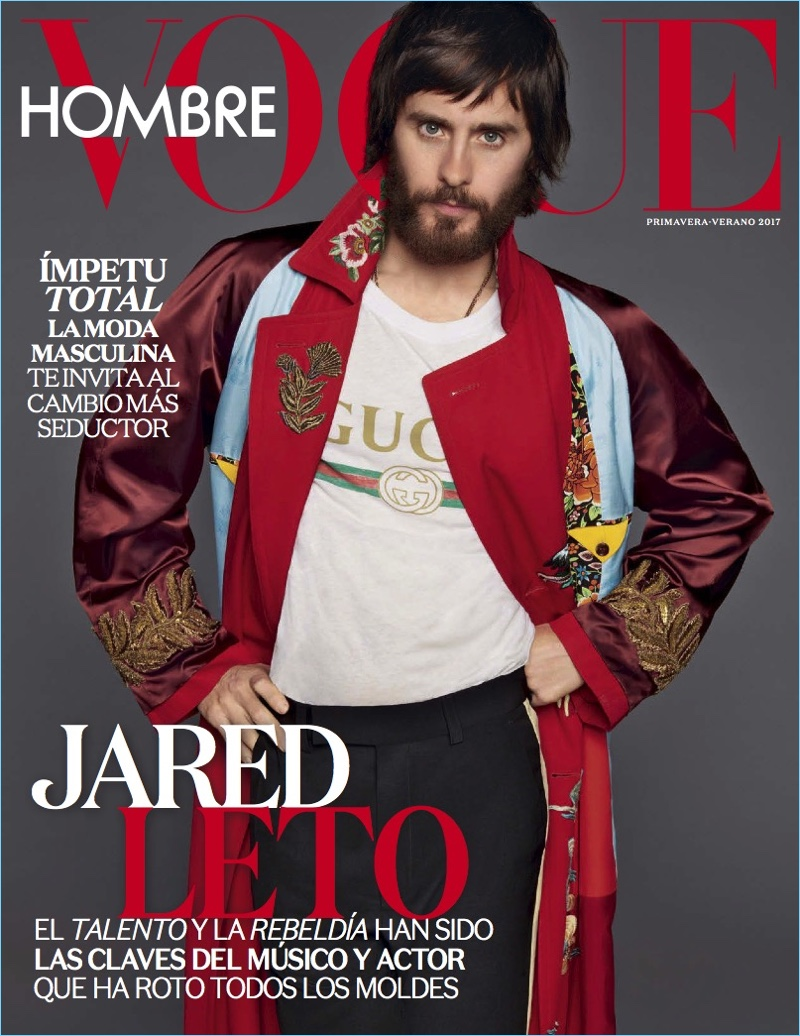 Jared Leto covers the spring-summer 2017 issue of Vogue Hombre.