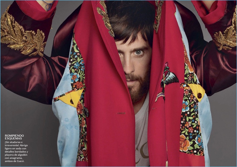 Terry Richardson photographs Jared Leto in Gucci for Vogue Hombre.