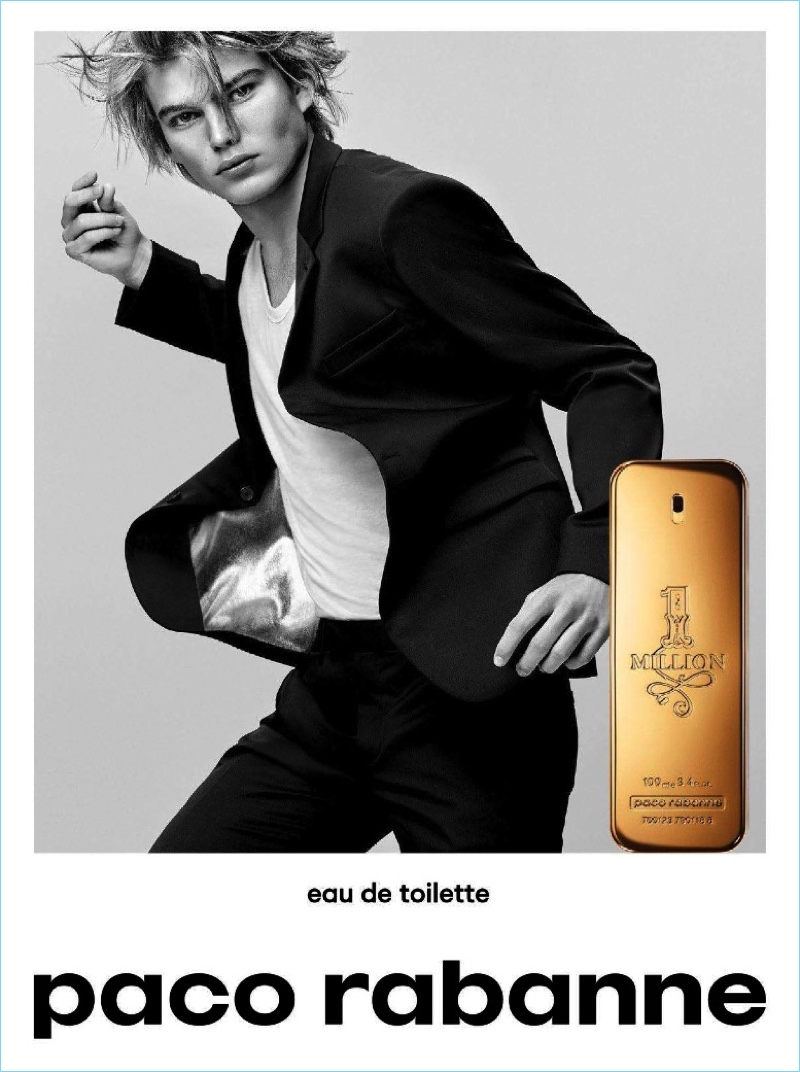 Jordan Barrett replaces Sean O'Pry as the face of Paco Rabanne's fragrance campaign.
