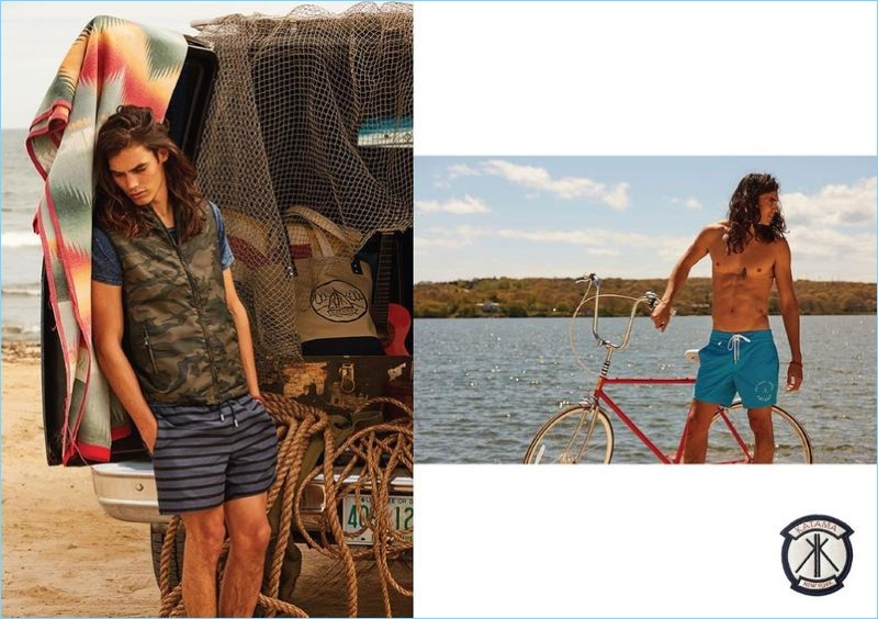 Katama enlists Vito Basso to model various styles from its Surf Lodge collaboration.