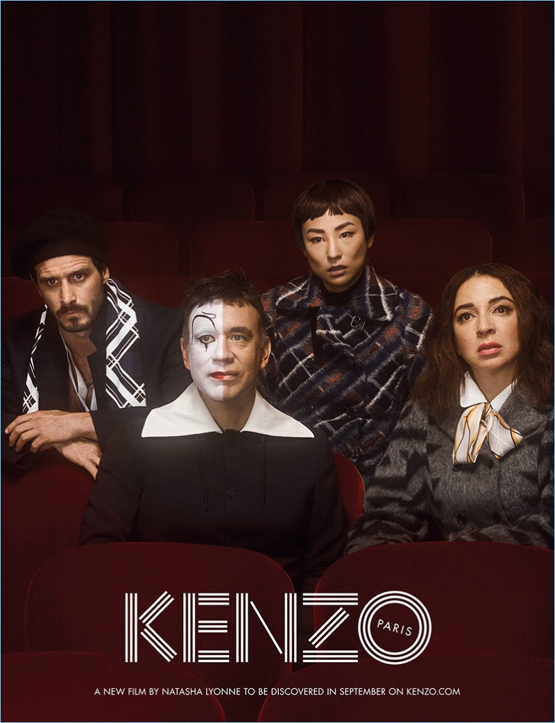 James Ransone, Fred Armisen, Greta Lee, and Maya Rudolph star in Kenzo's fall-winter 2017 campaign.