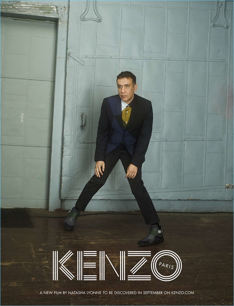 Fred Armisen is front and center for Kenzo's fall-winter 2017 campaign.
