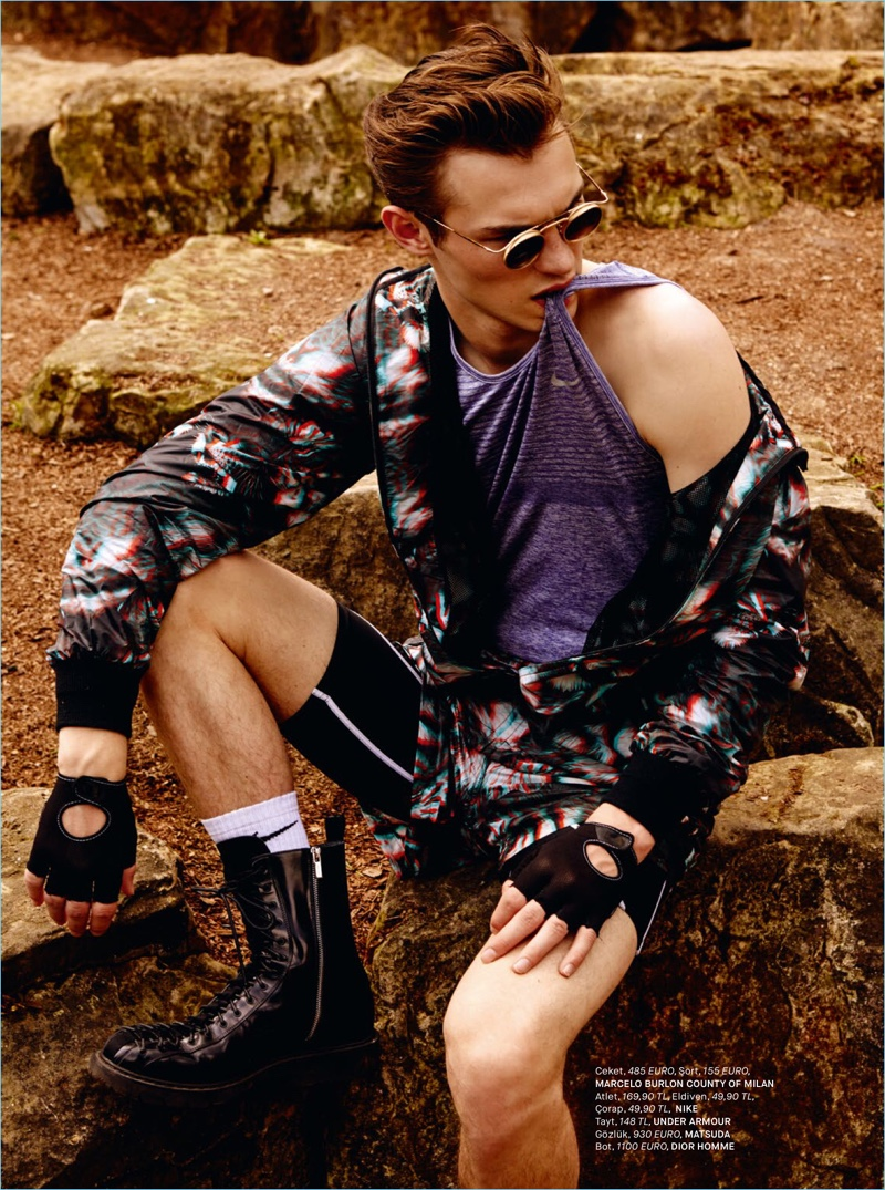 Kit Butler Rocks Colorful Styles for GQ Turkey Story