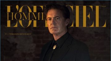 Kyle MacLachlan covers the most recent issue of L'Officiel Hommes Italia.
