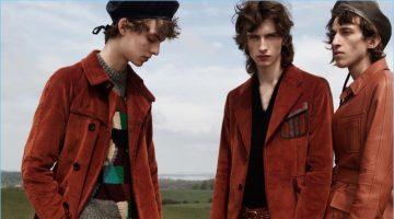 L'Officiel Hommes Italia puts the spotlight on Prada's fall-winter 2017 collection.