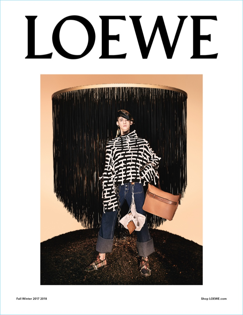 Loewe taps Max Overshiner for its fall-winter 2017 campaign.