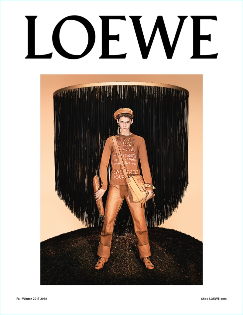 Steven Meisel photographs Max Overshiner for Loewe's fall-winter 2017 campaign.