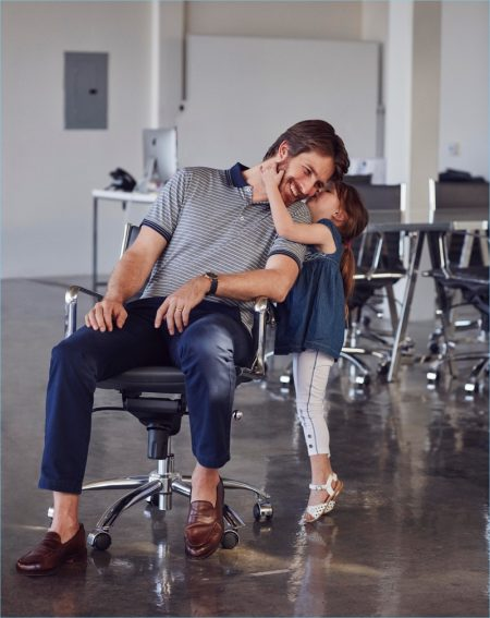 Ryan Burns & Daughters Star in Lord & Taylor Father's Day Campaign