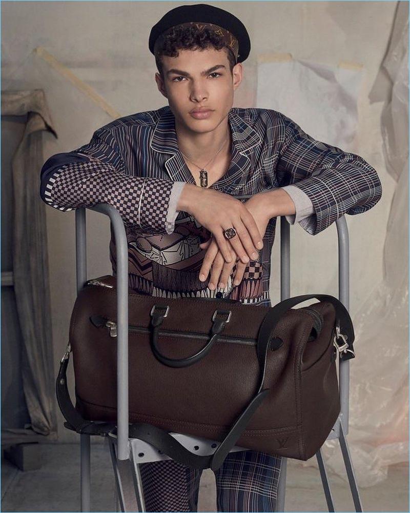 Noah Brown fronts Louis Vuitton's fall-winter 2017 men's campaign.