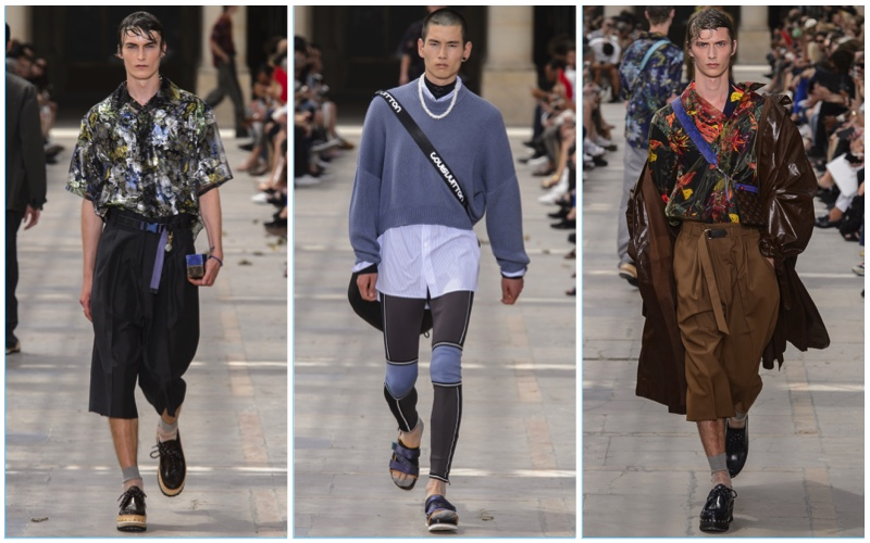 a3b469b2e3bf Louis Vuitton presents its spring-summer 2018 men s collection during Paris  Fashion Week.