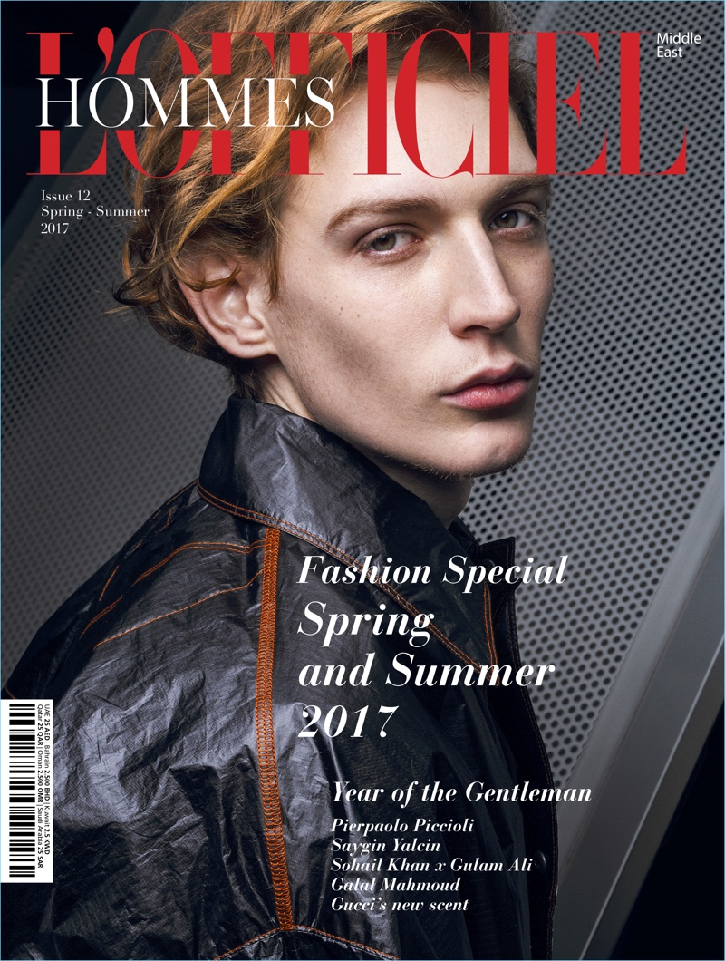 Lucas Dambros covers the most recent issue of L'Officiel Hommes Middle East.