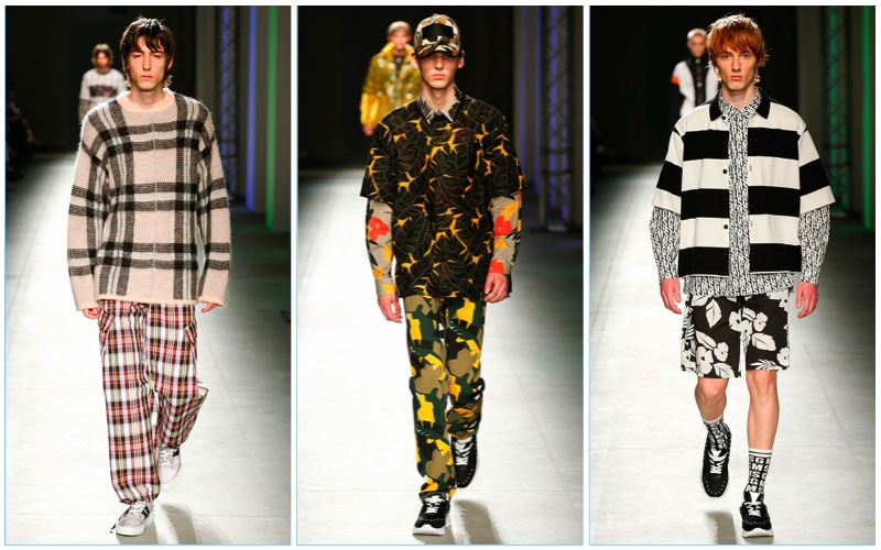 MSGM presents its spring-summer 2018 collection during Milan Fashion Week.