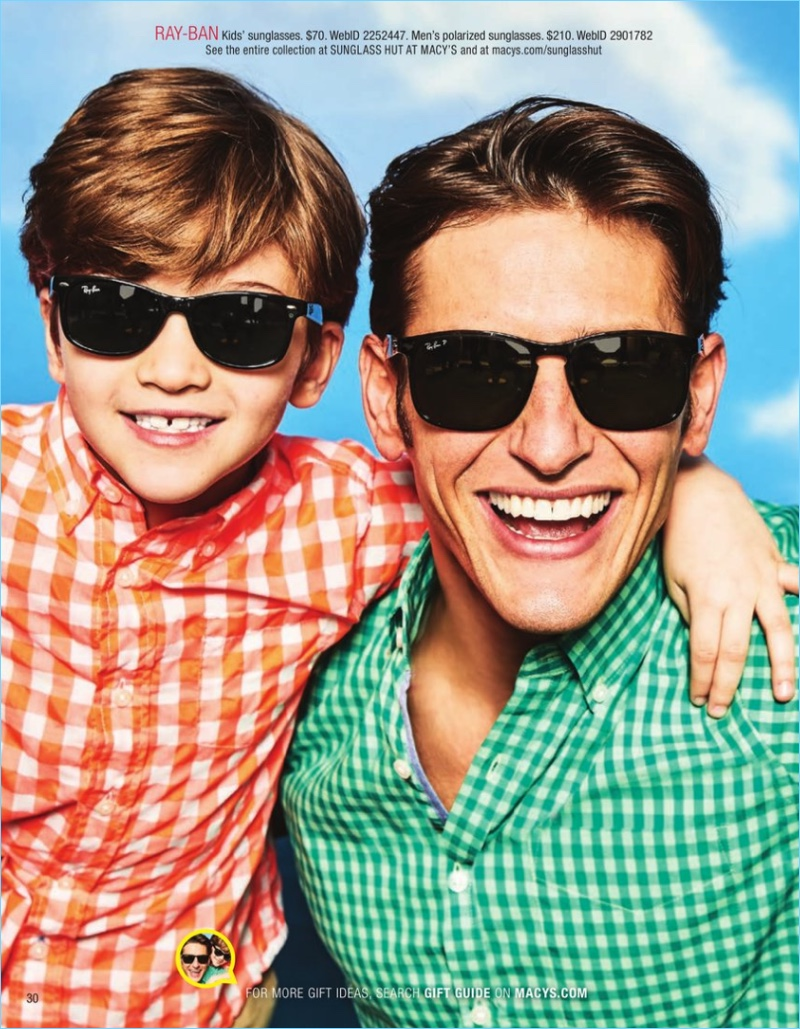 Parker Gregory wears Ray-Ban sunglasses $210.