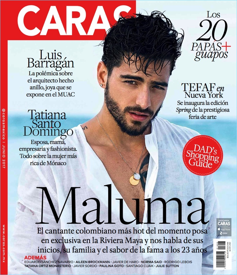 Maluma covers the June 2017 issue of Caras magazine.