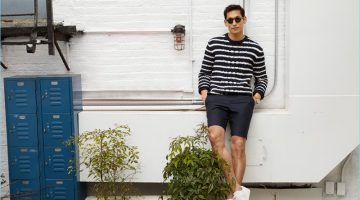 Line Up: Jae Yoo Rocks Striped Fashions for East Dane
