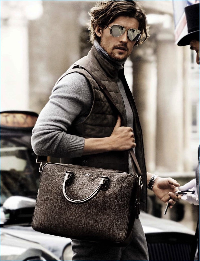 On the move, Wouter Peelen fronts Michael Kors' fall-winter 2017 campaign.