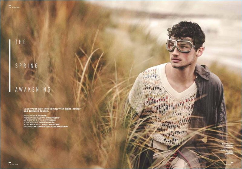 Misa Patinszki stars in a fashion editorial for The Peak Hong Kong.