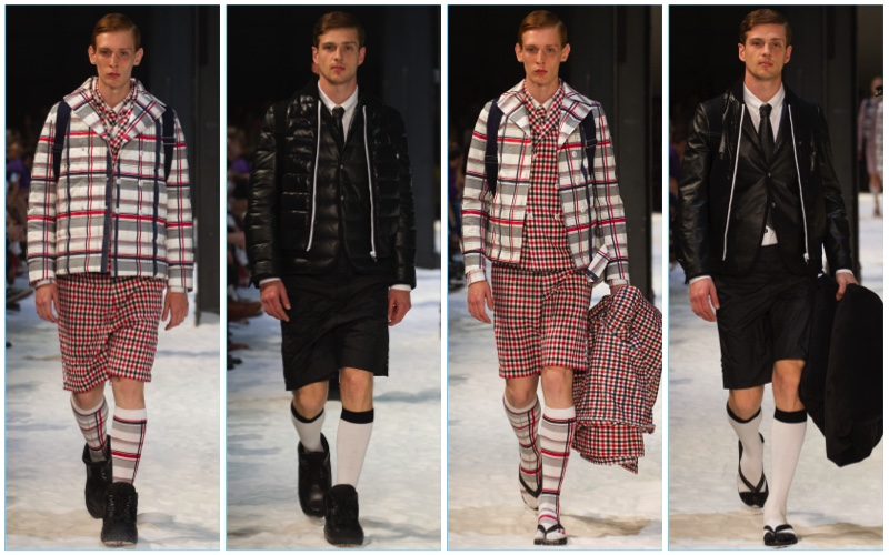 Moncler Gamme Bleu presents its spring-summer 2018 men's collection during Milan Fashion Week.