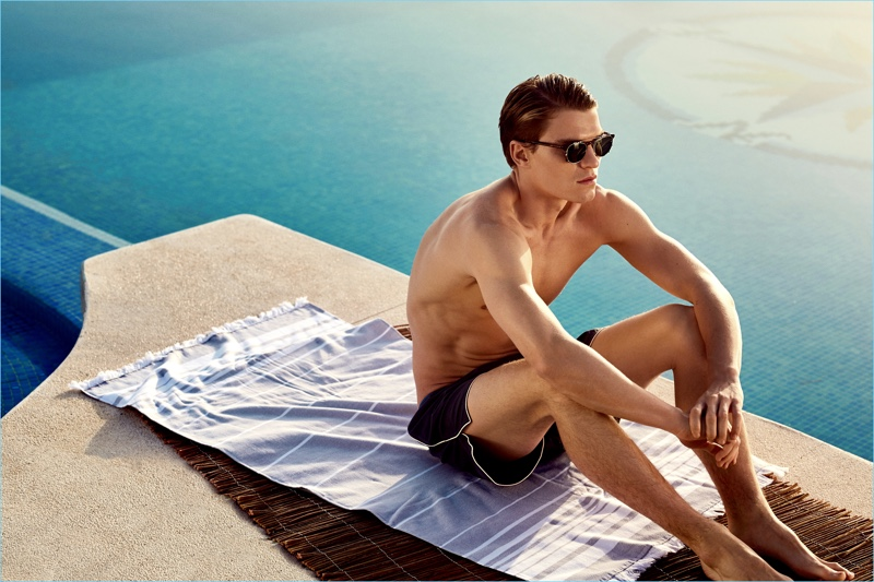 Soaking in the sun, Oliver Cheshire takes the lead in NLY Man's summer 2017 campaign.