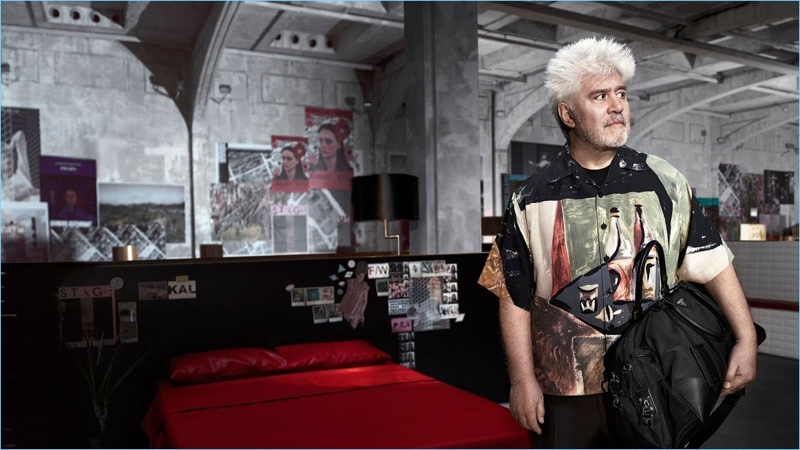 Pedro Almodóvar stars in Prada's fall-winter 2017 campaign.