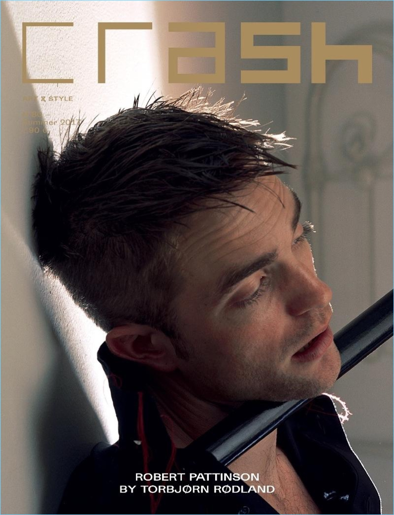 Robert Pattinson covers the most recent issue of Crash magazine.