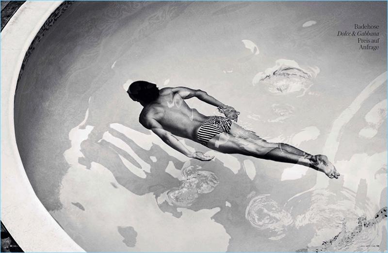 Shorts Story: Simon Nessman Models Swimwear for GQ Germany