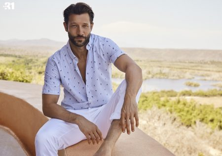 John Halls Wears Vacation Styled Fashions for Simons