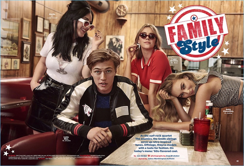 Lucky Blue Smith and The Atomics appear in the July/August 2017 issue of Seventeen magazine.
