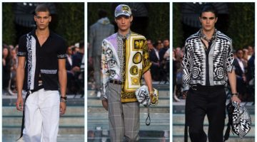 Versace presents its spring-summer 2018 men's collection during Milan Fashion Week.
