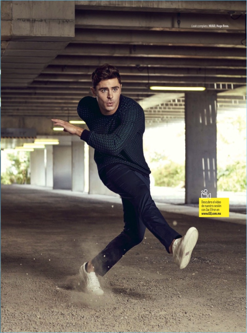 Zac Efron Covers GQ Mexico Stars In HUGO Clad Photo Shoot