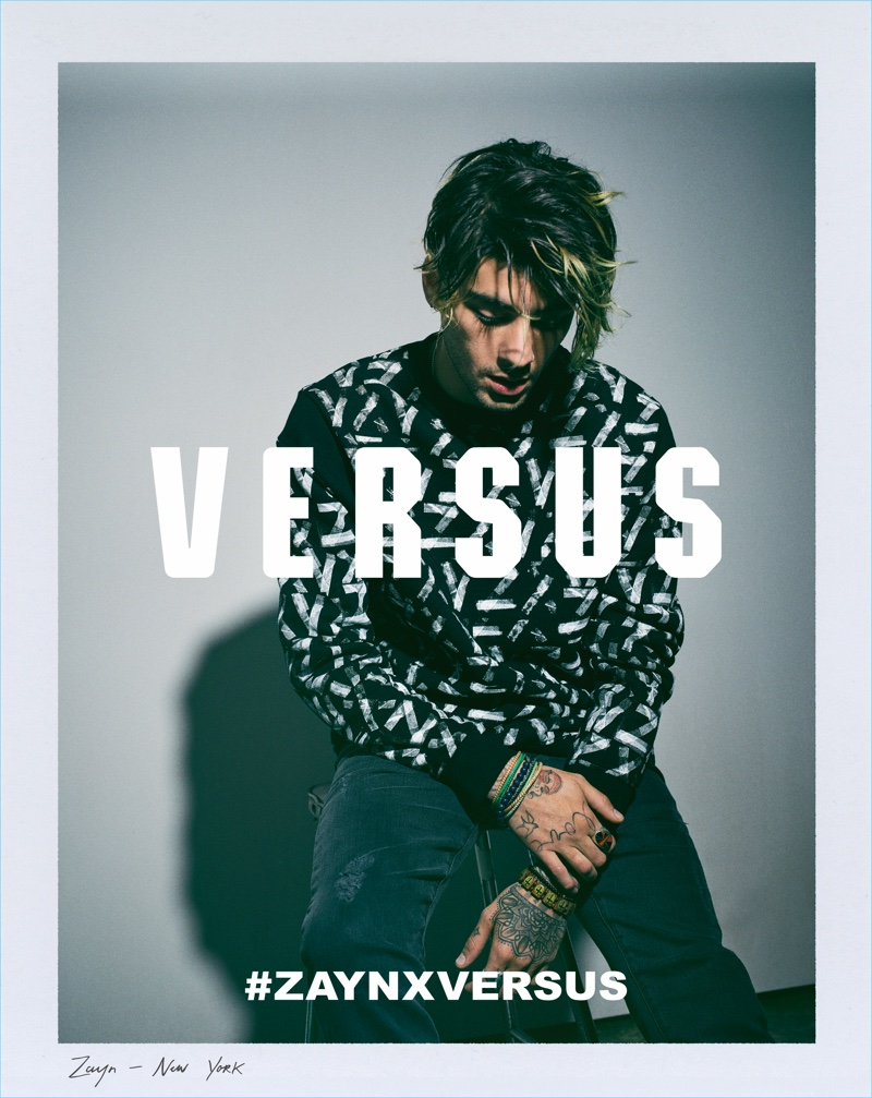 Greg Harris photographs Zayn Malik for his Versus Versace campaign.