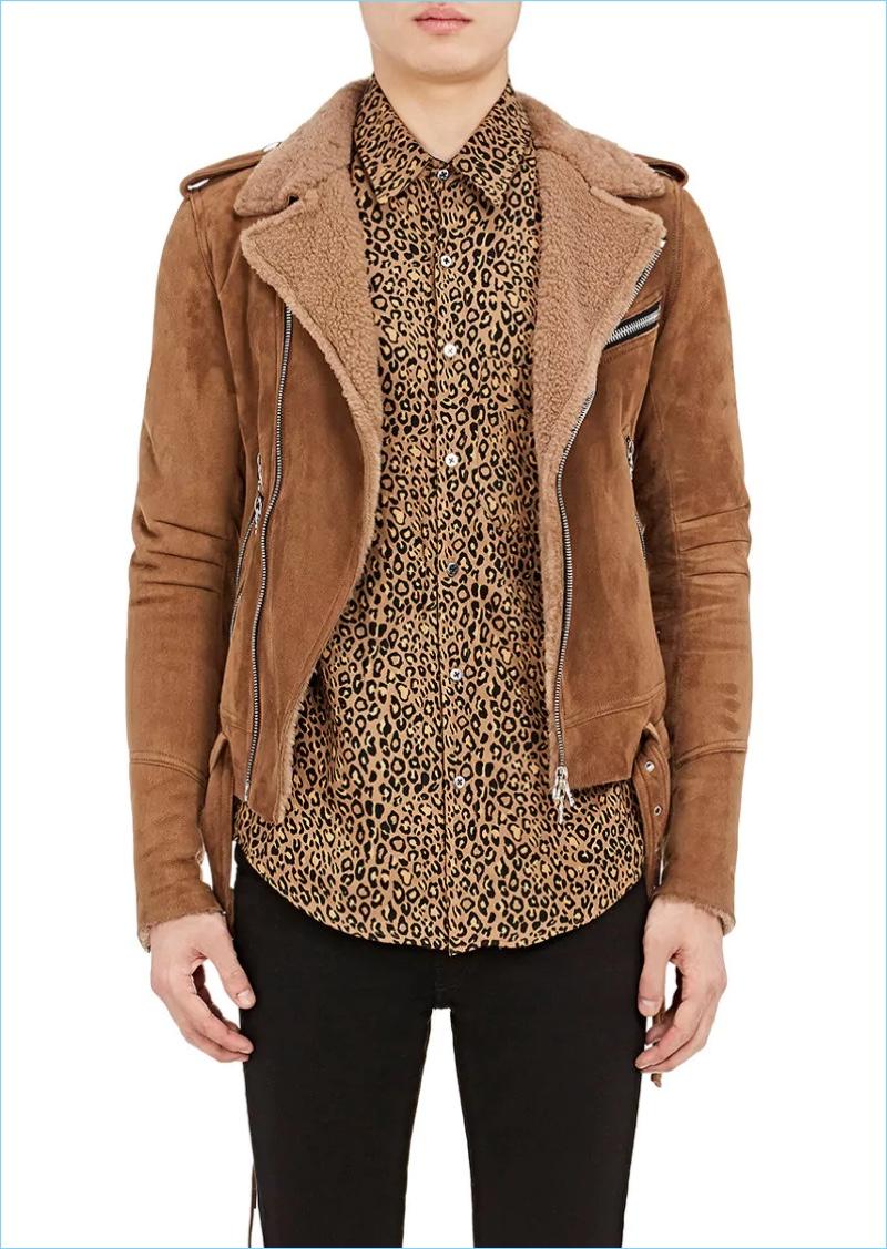 AMIRI Shearling Moto Jacket