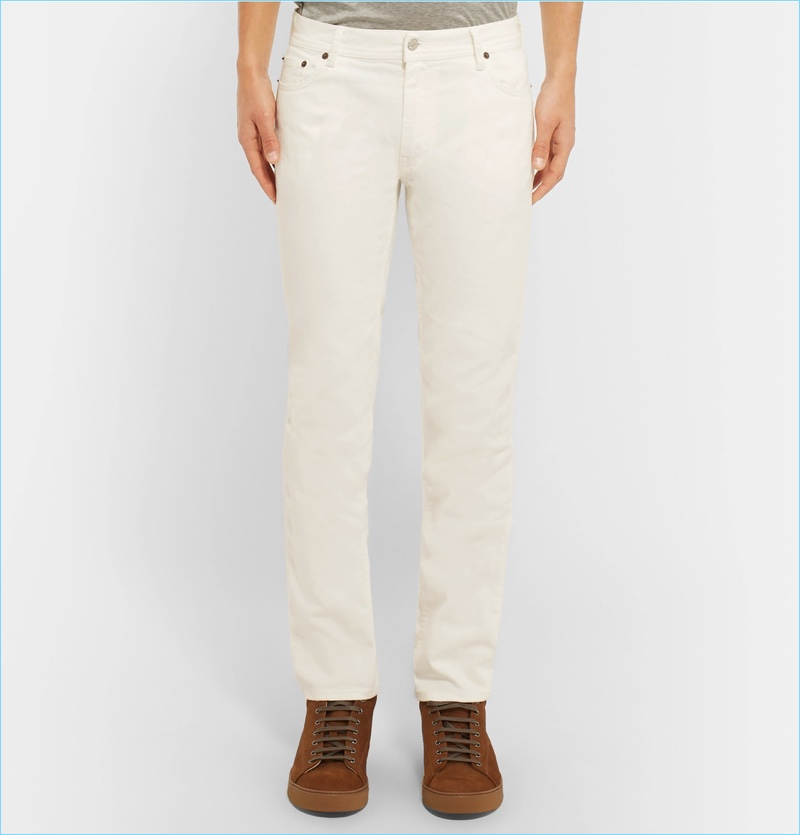 Acne Studios North Slim-Fit White Stretch-Denim Jeans